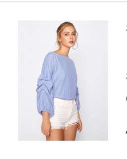 Bnew Korean Style Puffed Sleeve Top
