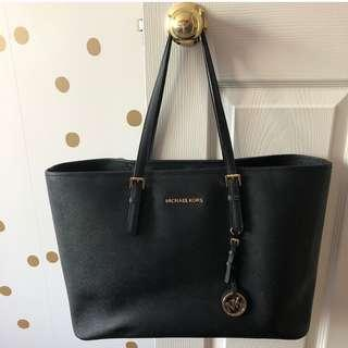Michael Kors Jet Set Large Saffiano Leather Tote with Laptop Pocket