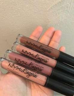 authentic NYX Lingerie matte Liquid Lipstick