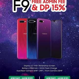 Handphone Oppo F9, Promo Bayar 645ribu Cicilan Cepat