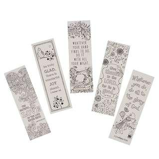 ~READY STOCK~ BN Creative Expressions of Faith Collection #1: Bookmarks to Color and Share - 5 Pack by Christian Art Gifts