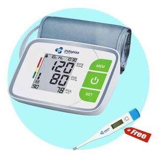 Electronic Blood Pressure Monitor - FREE DIGITAL THERMOMETER