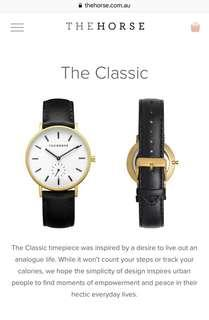 Authentic THE HORSE Classic Watch