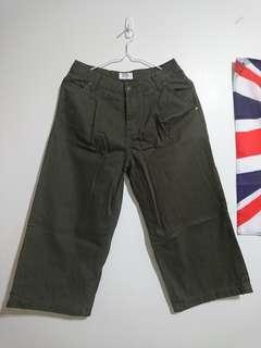 Navy 軍綠寬褲