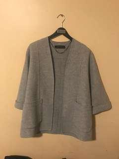Zara cardigan grey medium