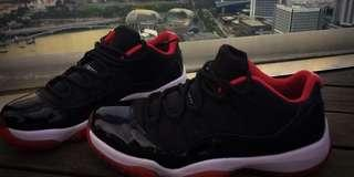 NIKE Jordan 11 Breds Low size7 with Box