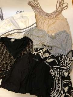 6 H&M f21 mexx tops and dress - small/medium