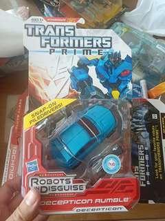 Transformers Prime Decepticon Rumble deluxe class