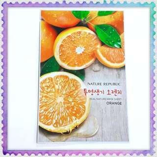 100% Original Nature Republic Real Orange Mask Sheet