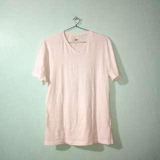 H&M White V-neck T-shirt