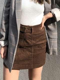 corduroy belt skirt SMALL