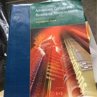 Advanced corporate business transactions