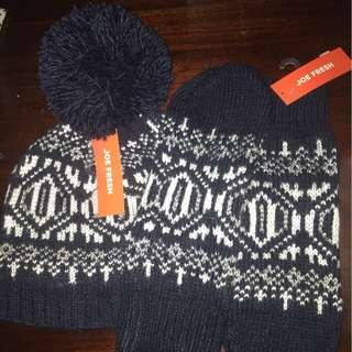Hat and gloves set brand new retail $16 each
