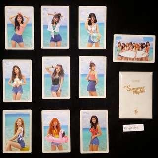 [WTS] TWICE Summer Nights (Pre-order Benefit) Photocard set
