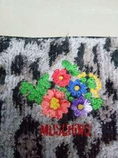 MOSHINO embroidery flower n spellout fluffy leopard design small handbag
