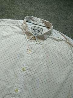 REPUBLIC Button-down Paisley Print Cotton Shirt Long Sleeve