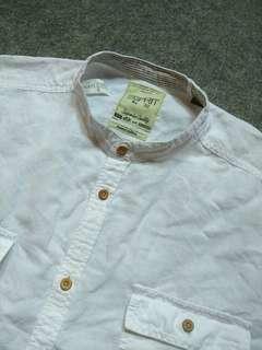 ESPRIT Mandarin-Collar Linen Shirt (SUPER BIG SIZE)