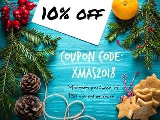 Christmas Special: 10% storewide discount
