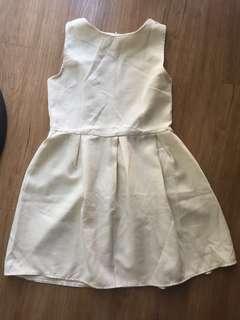 Cream Short Dress