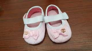 PL Inspired branded chanel baby girl shoes pink size 1