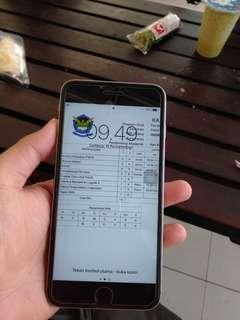 Iphone 6s plus 128gb space gray mulus sangat nominus fullset