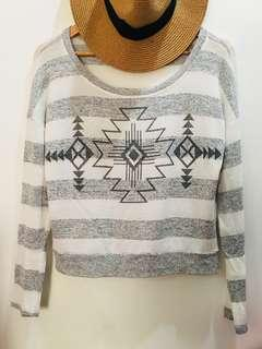 Forever21 Aztec Print Sweater Top
