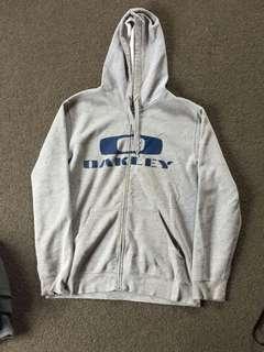 Oakley grey zip hoodie