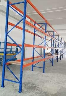 SALE🛑USE🛑HEAVY  DUTY RACKING    🛑  ONE ROW  3   LINKS    3   TIERS  🛑H 4000MM ×W 900MM× L2700MM    LOADING 2 TON STILL IN VERY NEW  CONDITION.