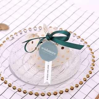 Gold Polka Dot Candy Paper Box