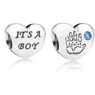 💙Baby Boy Silver Heart Charm💙