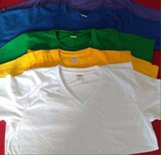 Vneck plain shirts