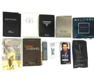 10-pc Bundle Perfume Samples for Men $29.90 PwP