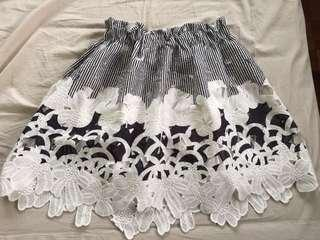 Laced skirt