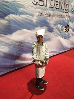 Kids apron and hat/ chef costume