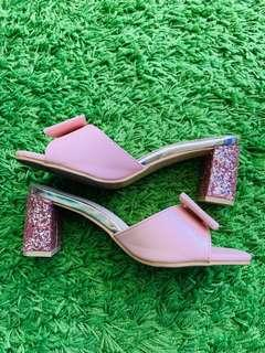 Carlo Rino Pink Glitter Heels #SINGLES1111