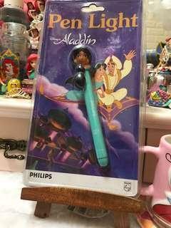 Disney Pen Light Aladdin 阿拉丁 神燈 茉莉 公主電光筆 電筒