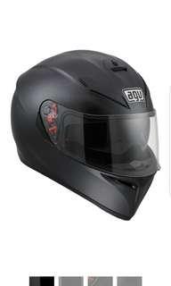 AGV K3 SV K3-SV Adult Motorcycle Motorbike Full Face Helmet Matte Black SIZE Medium LARGE ONLY Matte Black  Flat Black