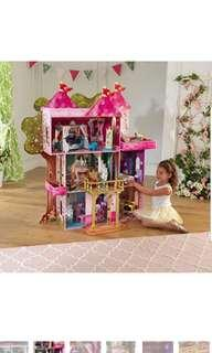 KidKraft Storybook Mansion Doll House Dollhouse for Barbie Large 48 x 19.25 x 52.88 inches