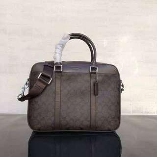 ON HAND: Authentic Coach Signature Laptop Bag with detachable Sling bag
