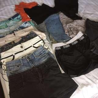 Clothes BUNDLE (shorts, jeans, tops)