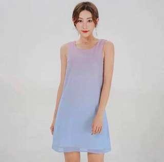 🌷(IN STOCK) Ombre Breeze Trapeze Dress Paddle Pop