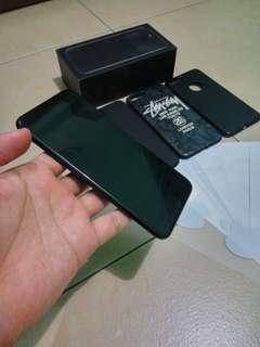iphone 7 plus 128GB jetblack mulus fulset original