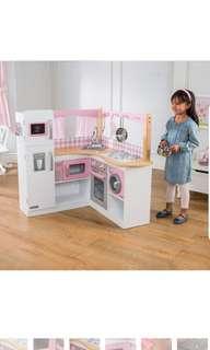 KidKraft Grand Gourmet Corner Kitchen Kids Children Play Pretend Kitchen