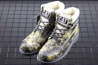 🚚 CAT 英倫復古迷彩工裝靴 男鞋