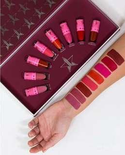 Authentic JEFFREE STAR  velour red ,pink minis  set