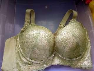 Bn push up green lacey bra in 75c