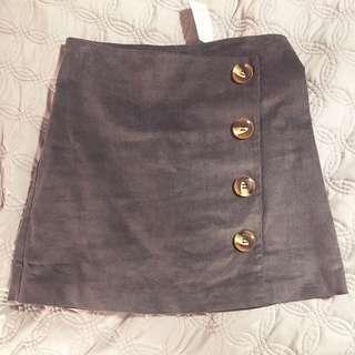 M Boutique Grey Corduroy Mini Skirt