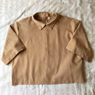 Brown Collared Top