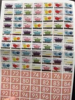 惠康印花wellcome stamp 70 pcs (歡迎散買)