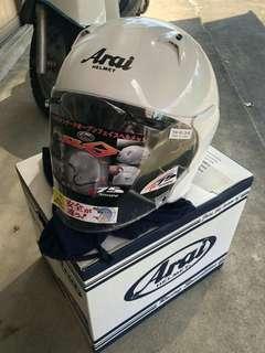 日本進口 Arai  SZ-G 珍珠白 安全帽 3/4安全帽 亮白 (原價1萬1千